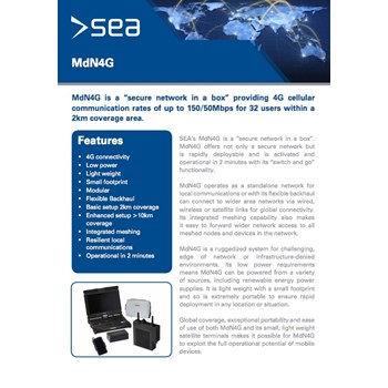 MdN4G - Technical Specifications cover photo