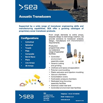 Acoustic Transducers - Technical Specifications cover photo