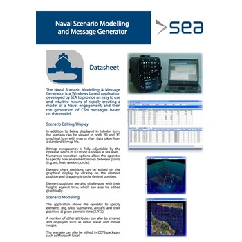 Naval Scenario Modelling Generator cover photo