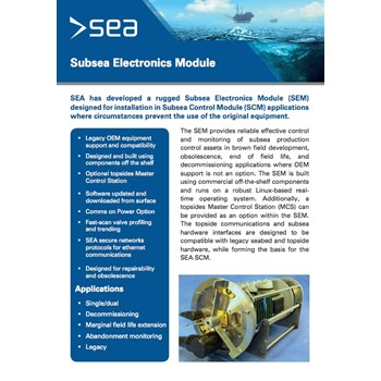 Subsea Electronics Module - Technical Specifications cover photo