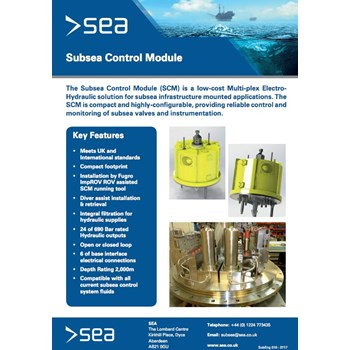 Subsea Control Module - Technical Specifications cover photo