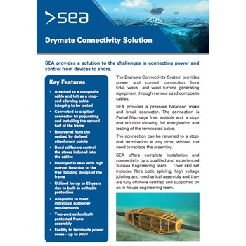 Subsea Drymate Connectivity System - Technical Specifications cover photo
