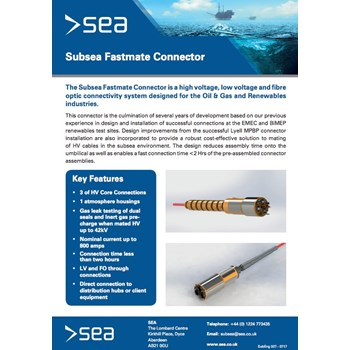 Subsea Fastmate Connector - Technical Specifications cover photo