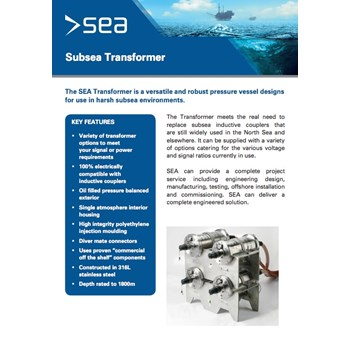 Subsea Transformer - Technical Specifications cover photo